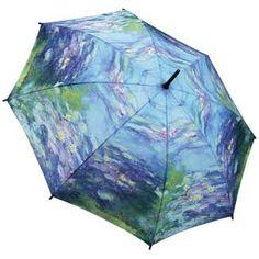 Galleria Art Print Walking Length Umbrella - Water Lillies by Monet; Price: £25.00.