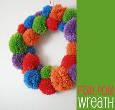 How To: Pom Pom Wreath