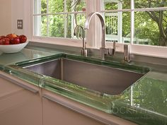 glass kitchen counter tops