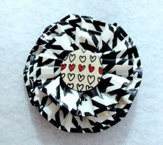 Hounds Tooth and Heart Duct Tape Flower You Choose The Accessory.
