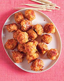 This reinterpretation of meatballs combines purchased breakfast sausage, cheddar cheese, and onion for a very flavorful holiday appetizer, enough for a crowd of hungry folks.