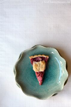 hello kitty strawberry rhubarb tart