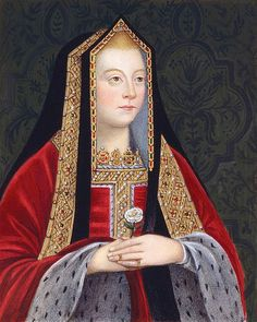 ELIZABETH OF YORK - HOLDING THE WHITE ROSE OF THE HOUSE OF YORK. MOTHER TO KING HENRY VIII. ELIZABETH I WAS NAMED AFTER HER GRANDMOTHER - THIS DAUGHTER OF EDWARD IV.