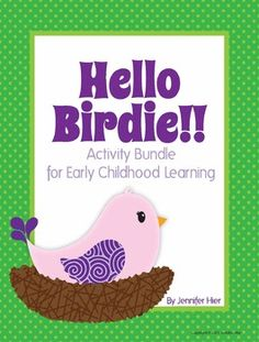 Spring Birds.....activities for pre-k