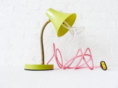 Vintage lamp with colourful cordstring
