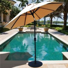 This 7.5' Aluminum Patio Umbrella, available in solution-dyed Sunbrella fabrics with 5 year warranty, features Crank Lift System with Deluxe Auto Tilt mechanism. Excellent quality for $279.00 sale price.  Product ID : GAL-727-SB #PatioUmbrella