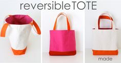 Reversible, Lined, Color-Blocked Tote   40 Awesome DIY Totes!