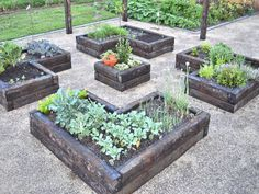 formal sleeper vegetable & herb garden
