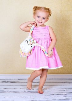Love this little girl modeling my pony purse!