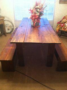 My barn door table finalized