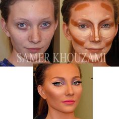 Contour before and after