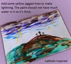 Good Friday Watercolor Art {Tutorial} - Catholic Inspired