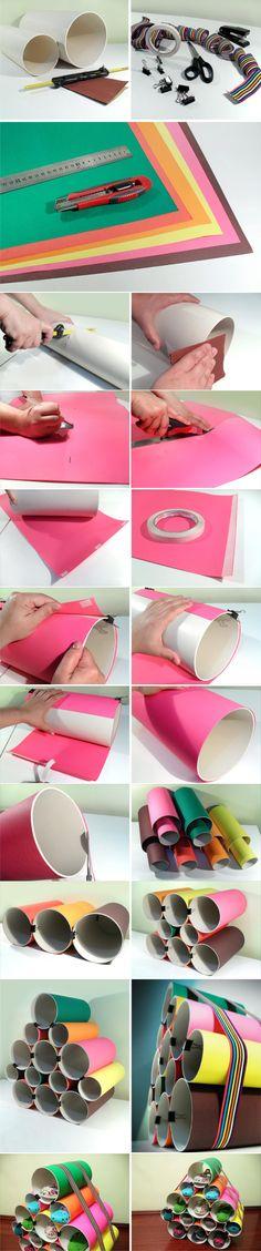 Zapatera con tubos de PVC