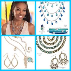 Don't sing the blues......blues and greens still on trend!  Kaseyjewels.mypremierdesigns.com