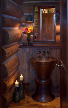 Bathroom Log Home Design, Pictures, Remodel, Decor and Ideas - page 7