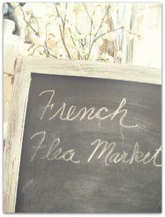 French Flea Market chalkboard