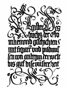 Gothic Calligraphy by shaire productions, via Flickr