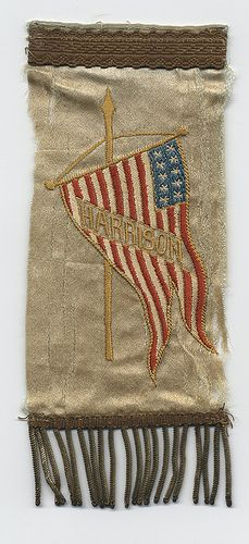 Benjamin Harrison Embroidered Campaign Ribbon
