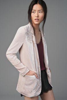 Zara silk velvet blazer