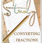 Converting Fractions Study Guide