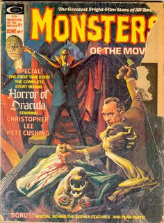 Monsters of the movies- Horror of Dracula.