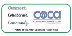 """Join COCA for our first """"State of the Arts"""" social and happy hour (7/17/14). We'll have time to mix and mingle, and introduce you to our new Executive Director, Dr. Audra Pittman."""