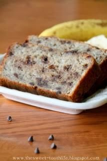 Greek Yogurt and Mini Chocolate Chip Banana Bread @Mary Powers Powers Powers Powers Frances M