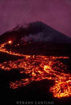 Erupting volcano (aerial), Hawaii Volcanoes National Park, Hawaii