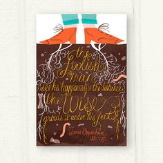 Wise Shoes fine art print by thispapership on Etsy, $25.00