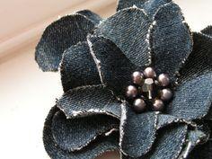 recycled denim flower