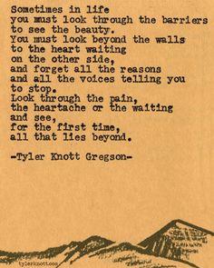 Typewriter Series #500by Tyler Knott Gregson