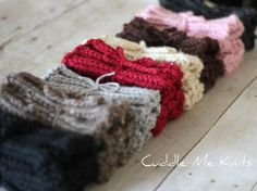 Knit Boot Cuffs Chunky Ribbed Boot Socks Choose by CuddleMeKnits