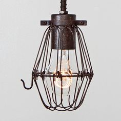 CAGE ONLY Basic Wire Bulb Cage Pendant Sold by FleaMarketRx, $24.00