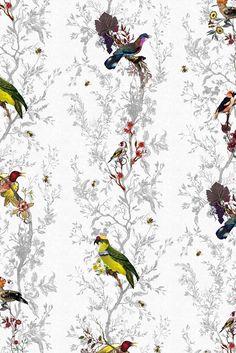Timorous Beasties Wallcoverings - Birds n Bees Frost