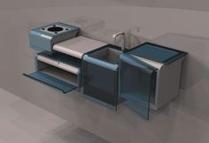 Concept and design of kitchens for the company Whirlpool (Master Class 2008)