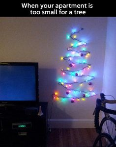 small apartments, xmas trees, kid bedrooms, christmas tree ideas, kid rooms, small spaces, dorm rooms, colleg, christmas trees