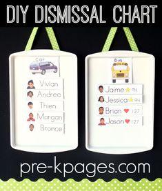 Easy DIY Magnetic Dismissal Chart