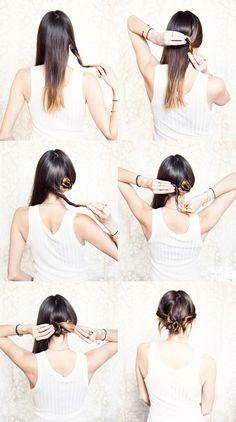 famous style, diy hair, cake hair, hair style
