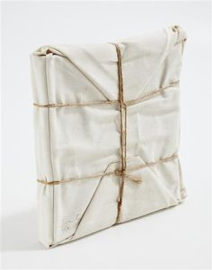 CHRISTO, Wrapped Book 1973 - The book Christo wrapped in canvas and twine,12 x 11 1/4 x 1 3/8 in. (30.5 x 28.6 x 3.5 cm)signed and numbered I/X in ink (an artist's proof, the edition was 100), published by Abrams Original Editions, New York Ideas, Christo Wraps, Wraps Book, Art, Beauty Packaging, Gift Wraps, Simple Gift, Design, Book Packaging