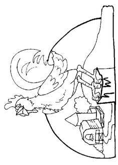 free images to sew hens or roosters | Coloring Pages Rooster