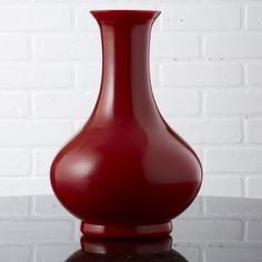 Vase, Blood Orange Imperial Peking Glass, so elegant, over 3,000 beautiful limited production interior design inspirations inc, furniture, lighting, mirrors, tabletop accents and gift ideas to enjoy pin and share at InStyle Decor Beverly Hills Hollywood Luxury Home Decor enjoy & happy pinning