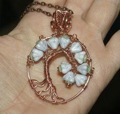 Tree of Life, Woven Wire Wrapped Glass Flower Tree by groovychickjewelry, $42.00