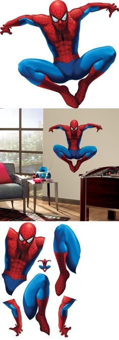 RoomMates RMK1078GSCS Amazing Spiderman Stick Peel  Giant Wall Decal - Wall Stickers  Murals - Tools  Hardware - $19.99
