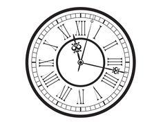 free printable vintage pocket watch clock face   Old Clock Drawing Vintage-old-clock