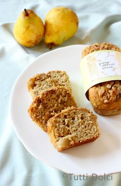 Caramelized Pear Streusel Bread