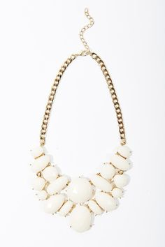 Fabulous ivory statement necklace #ccstyle