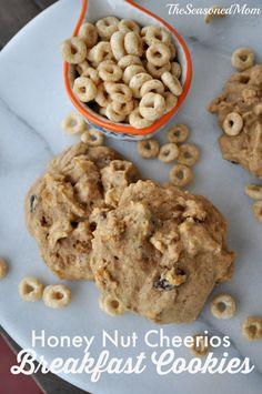 Healthy Honey Nut Breakfast Cookies