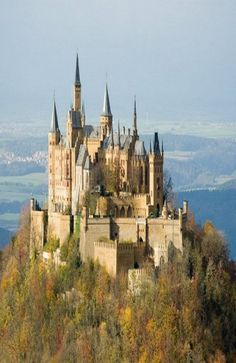 Hohenzollern Castle in south of Stuttgart, Germany.