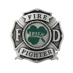 Irish Firefighter Belt Buckle | Shared by LION