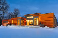 High-end prefab ... more > http://inhabitat.com/nyc/photos-blu-homes-opens-east-coasts-first-prefab-breezehouse-in-copake-ny/copake-breezehouse-ny-evening3/?extend=1